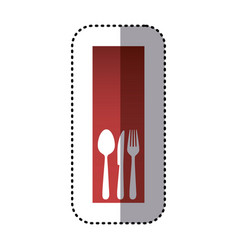 Sticker red rectangle banner frame with vector