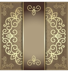 Stylish invitation card elegant golden design vector image