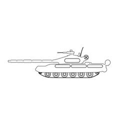 Tank outline military equipment icon vector