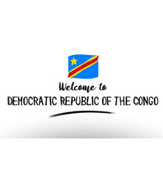 Welcome to democratic republic of the congo vector