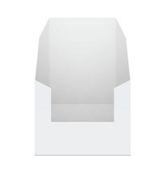 White cardboard pos poi holding box vector