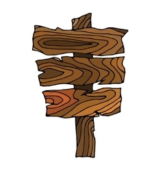 Wooden signpos vector