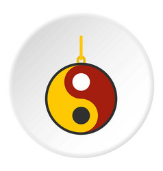 Ying yang symbol of harmony and balance icon vector