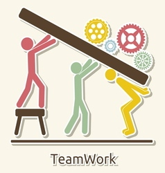 Teamwork card vector