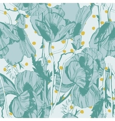 Seamless pattern with hand-drawn ink vector