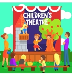 Amateur children theatre performance of a fairy vector