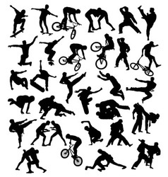 Extreme sport silhouettes vector