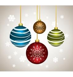 christmas balls vector image
