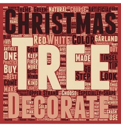 How to decorate a christmas tree text background vector