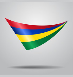 Mauritius flag background vector