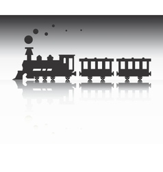Train silhouette vector