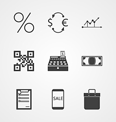 Contour icons for internet moneymaking vector