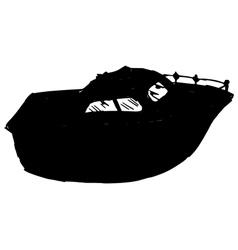 motor yacht vector image