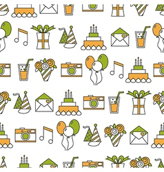 Seamless holiday pattern happy birthday festive vector