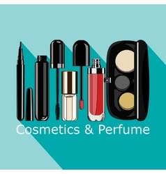 Cosmetics and perfume vector