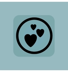 Pale blue love sign vector