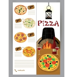 Booklet flyer leaflet menu for pizza vector
