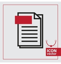Page simple icon vector