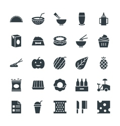 Food cool icons 12 vector