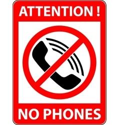 No phone telephone prohibited symbol vector