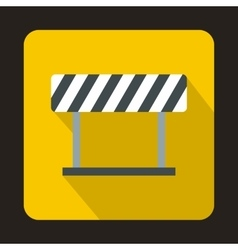 Traffic barrier icon in flat style vector
