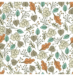 Hand drawn floral seamless pattern with flowers vector