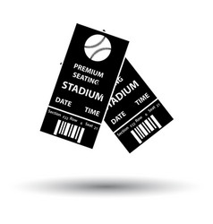 Baseball tickets icon vector