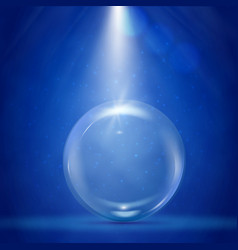 Big bubble with stage illumination vector