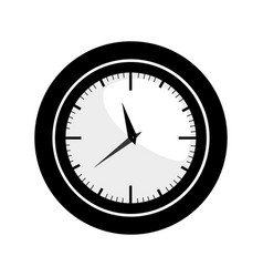 Black silhouette with wall clock vector