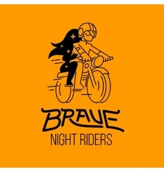 brave night riders vector image vector image