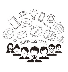 Business team management in vector