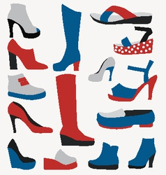 Color Icons - Shoes - vector image vector image