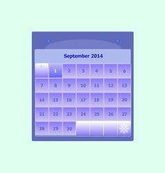 Design schedule monthly september 2014 calendar vector image