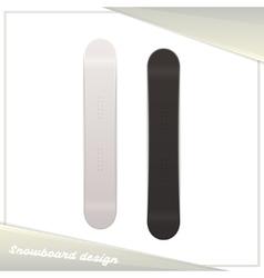 Design Snowboard vector image vector image
