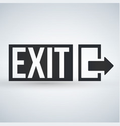 emergency exit sign isolated vector image