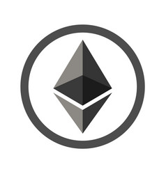 ethereum sign flat icon for internet money vector image vector image