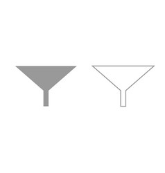 filter or funnel grey set icon vector image vector image