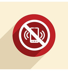 forbidden to use mobile phone vector image vector image