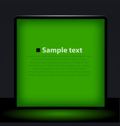 green light box vector image