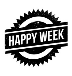 Happy week rubber stamp vector