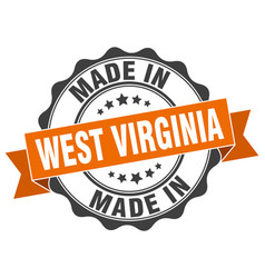 Made in west virginia round seal vector
