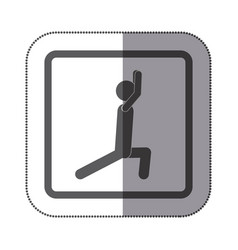 person stretching doing exercise icon vector image vector image