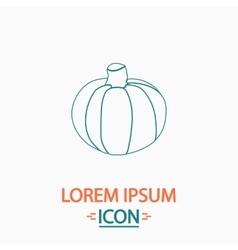 Pumpkin computer symbol vector