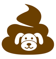 Puppy shit flat icon vector