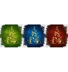 set of christmas cards vector image vector image
