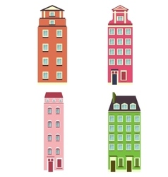 set of color house vector image vector image