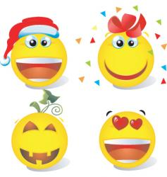 smiley Christmas vector image vector image