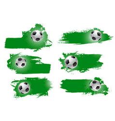 Soccer or football ball green backdrops vector