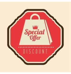 special offer discount retro label vector image