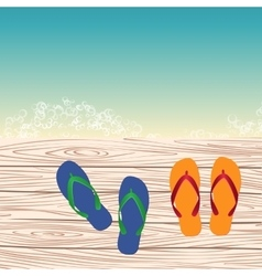 template with flip-flops vector image